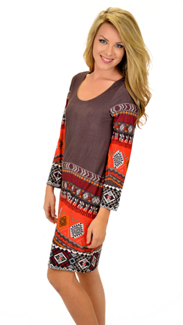 The Cassie Dress, Brown