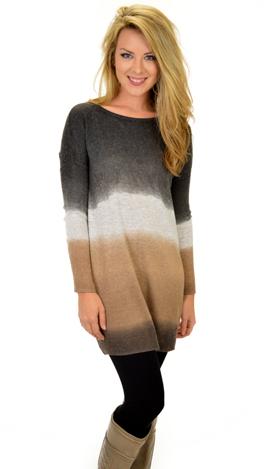 Fade Away Sweater, Brown