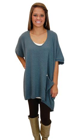 Telluride Sweater, Teal