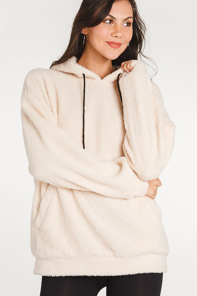 Snuggled Up Cream Hoodie