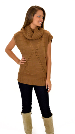 Rock and Roll Over Sweater, Mocha