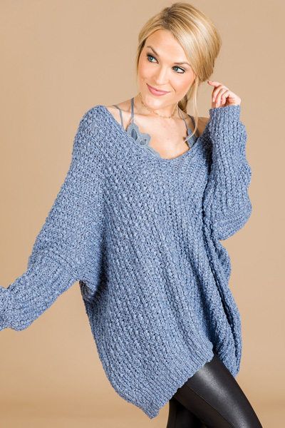 Wishful Sweater, Dusty Blue