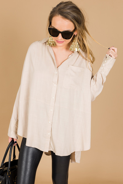 Keema Pocket Shirt, Taupe