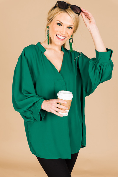 Can't Help Myself Blouse, Green