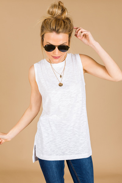 Back to Basics Tank, Ivory