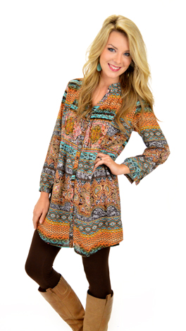 Mary Lou Tunic, Turq
