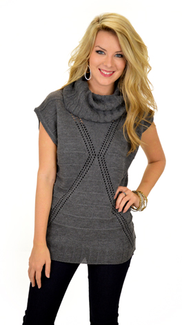 Rock and Roll Over Sweater, Charcoal