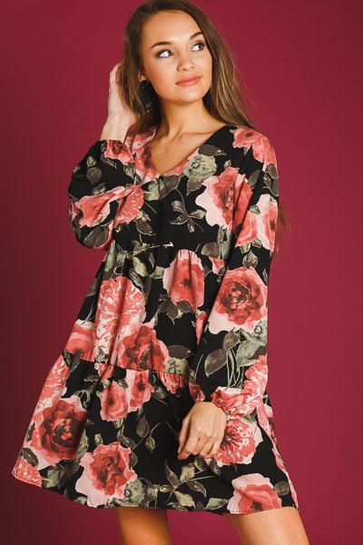 Autumn Roses Dress
