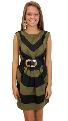 Chevy to The Levy Dress, Green