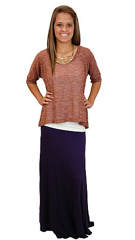 Tee Shirt Skirt, Purple
