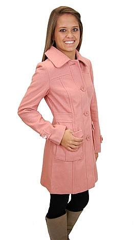 Vintage Wool Coat, Rose