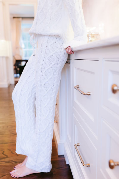Chenille Cable Knit Pants