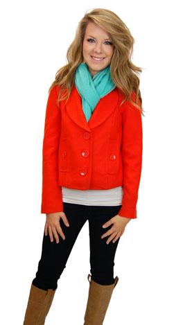 Essential Crop Coat, Orange