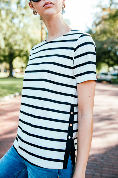 Make It Snappy Stripe Top