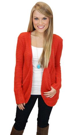 Mrs. Rogers Sweater, Orange