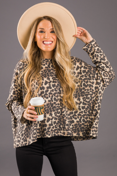 Mod Leopard Thermal, Taupe Gray