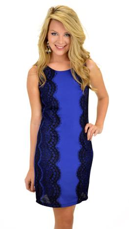 Choosing Sides Dress, Blue