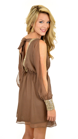 Payton's Party Dress, Mocha