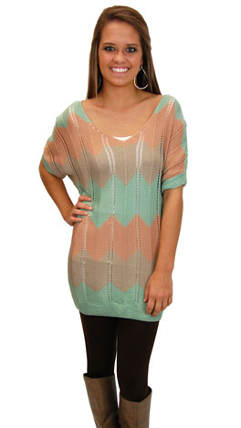 Carrie Sweater, Mint