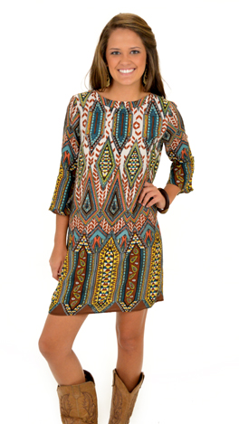 Gem-boree Dress, Brown