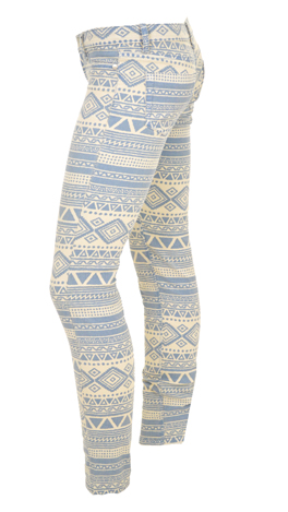 Aztec Lines Pants, Blue