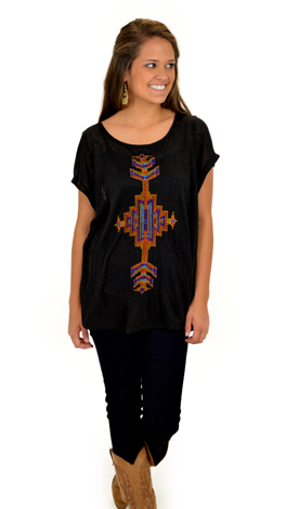 Tribal Tee, Black