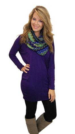 Purple Dolman Tunic