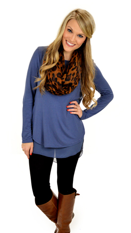 Double Your Fun Top, Blue