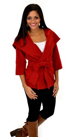 True Lovin' Jacket Dark Red