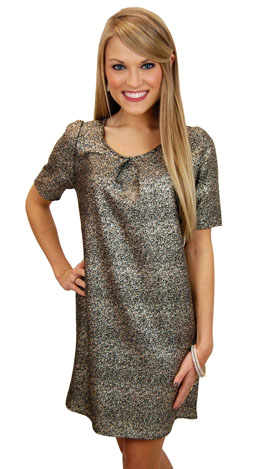 Streets of Gold Dress, Black