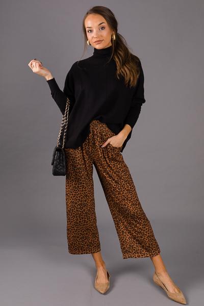 Cheetah Knit Pull On Pants