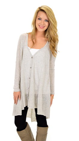 Long Time Coming Cardigan, Oyster