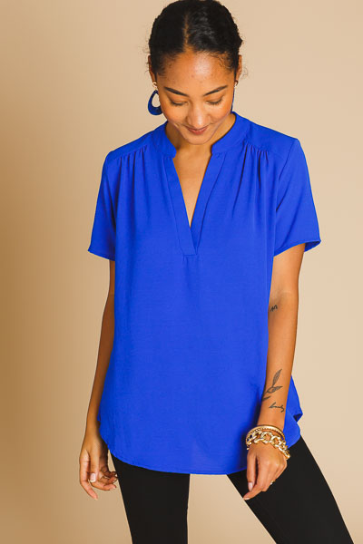 Work Hours Blouse, Royal