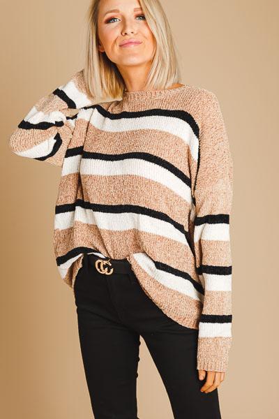 Velvet Yarns Stripe Sweater