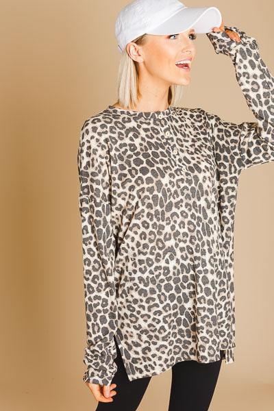 Cheetah Henley Tunic