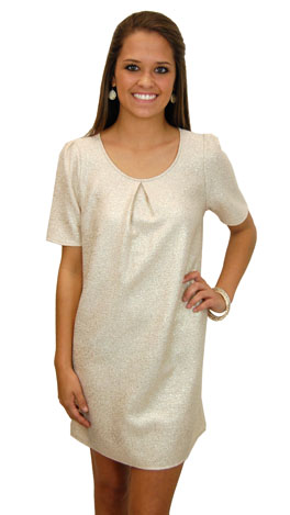 Streets of Gold Dress, Cream