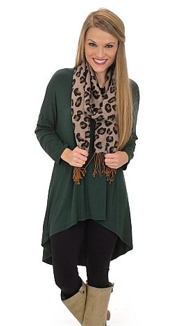 Hi Lo Knit Tunic, Green