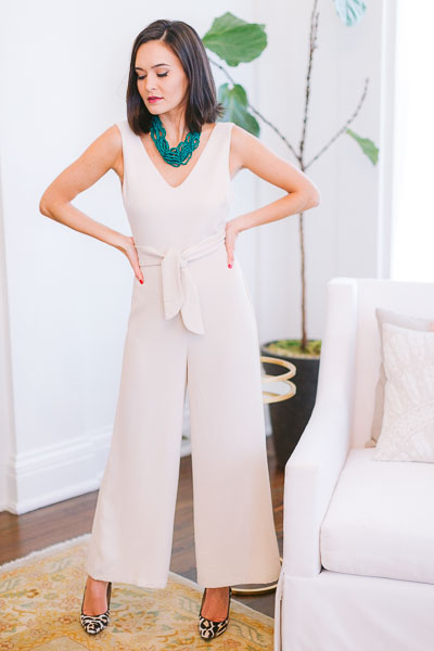 All Natural Sleeveless Jumpsuit