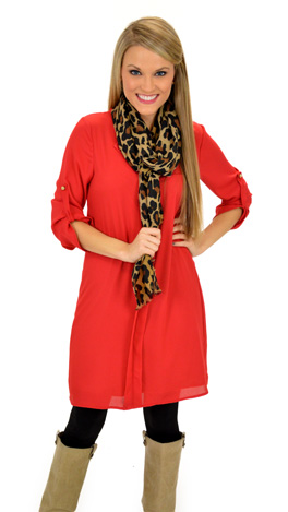 Mainstreet Dress, Red