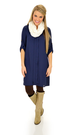 Mainstreet Dress, Navy