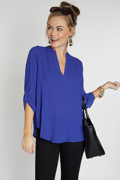 Manor Top, Marine Blue