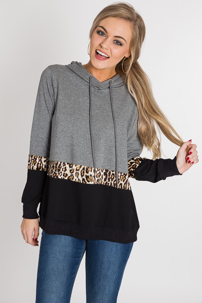 Leopard Band Hoodie