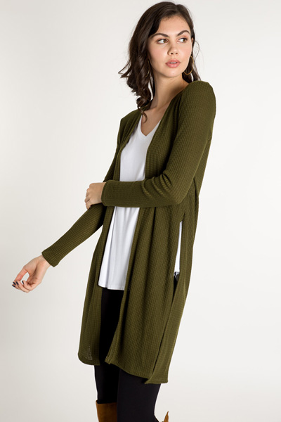 Color Me Happy Duster, Olive