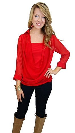 Ruby Red Blouse