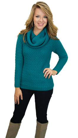 Teal The Cows Come Home Sweater