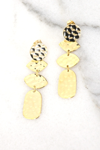 Hammered Time Earring