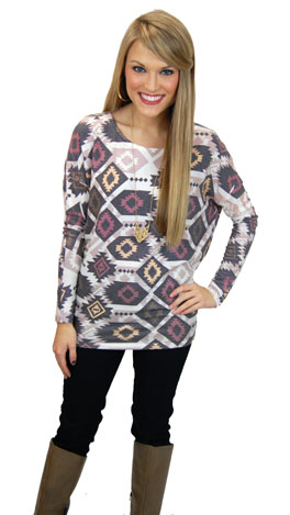 Exactly Aztec Top