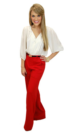 Classic Trousers, Red