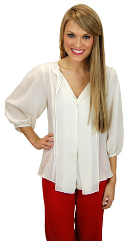 Essential Ivory Blouse