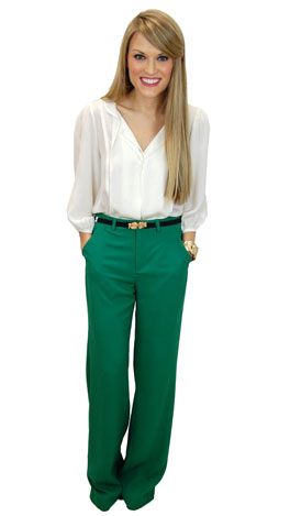 Classic Trousers, Green